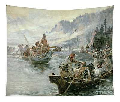 Lewis And Clark On The Lower Columbia River Tapestry