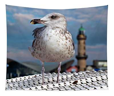 Liberty Of An Pacific Gull Tapestry