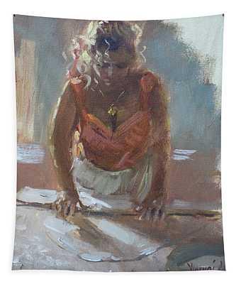 Lida Making Pie Tapestry