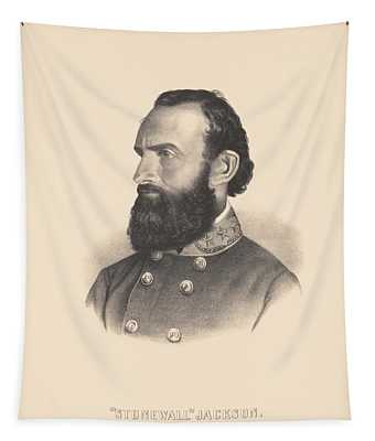 General Stonewall Jackson Portrait - Eight Tapestry