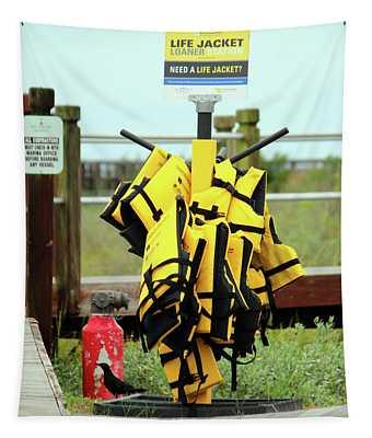 Life Jacket Station Tapestry