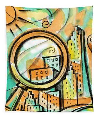 Life Of The Big City Tapestry