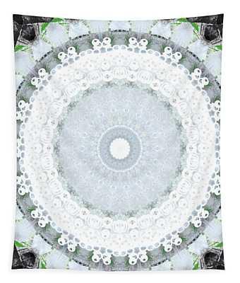 Light Blue Mandala- Art By Linda Woods Tapestry