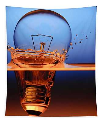 Light Bulb And Splash Water Tapestry
