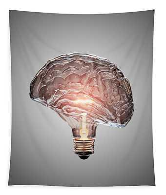 Light Bulb Brain Tapestry