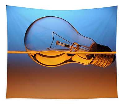 Light Bulb In Water Tapestry