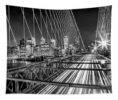 Light Trails Of Manhattan Tapestry