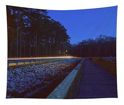 Light Trails On Elbow Road Tapestry
