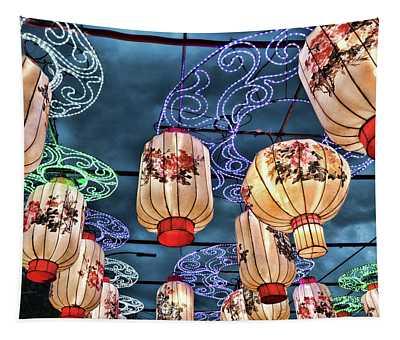 Lighted Lanterns Tapestry