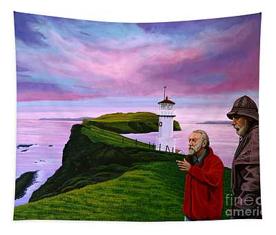 Lighthouse At Mykines Faroe Islands Tapestry