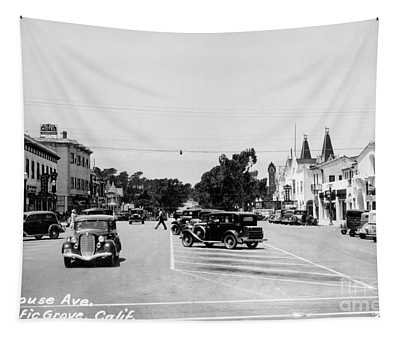 Lighthouse Avenue Downtown Pacific Grove, Calif. 1935  Tapestry