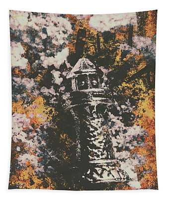 Lighthouse From Rust Harbour Tapestry