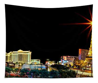 Lighting Up Vegas Tapestry