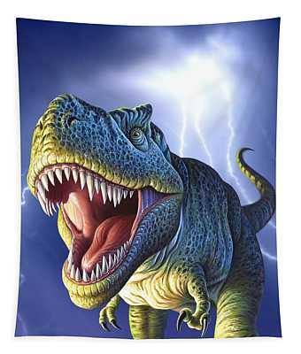 Lightning Rex Tapestry