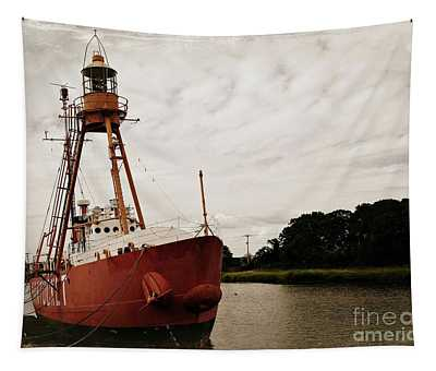 Lightship Nantucket Wlv-613 At Wareham Tapestry