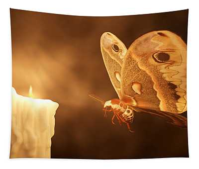 Like A Moth To A Flame Tapestry