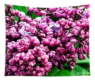 Lilac Blossoms Abstract Soft Effect 1 Tapestry