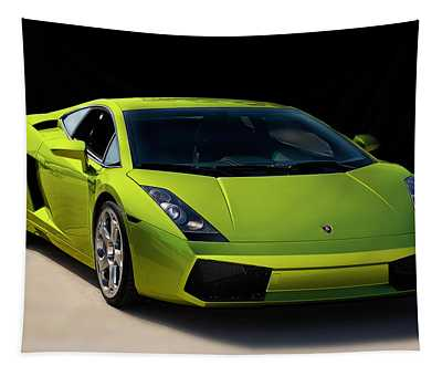 Lime-borghini Tapestry by Peter Tellone