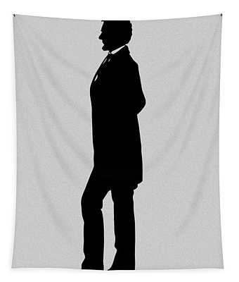 Lincoln Silhouette And Signature Tapestry