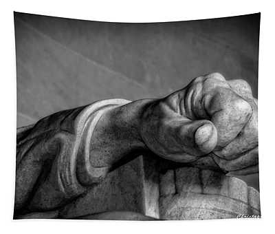 Lincoln's Left Hand B-w Tapestry