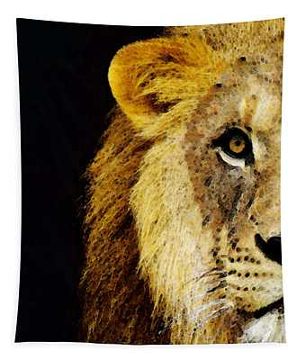 Lion Art - Face Off Tapestry