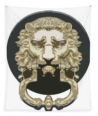 Lion Knocker Tapestry