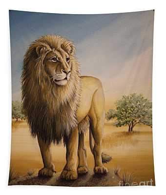 Lion Of Africa Tapestry