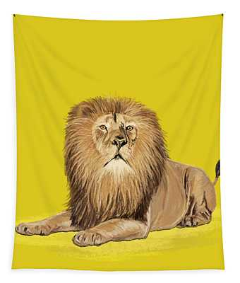 Lion Painting Tapestry