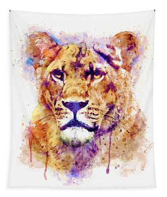 Lioness Head Tapestry