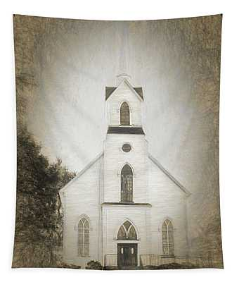 Little Country Church Tapestry