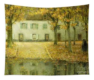 Little Place On The Banks Of The Eau At Chartres Tapestry