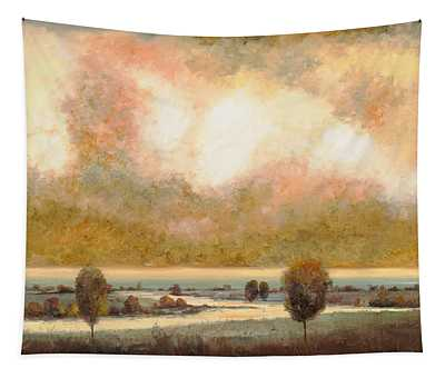 Pond Paintings Wall Tapestries