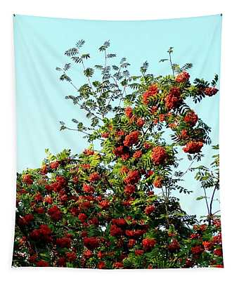 Loaded With Berries Tapestry