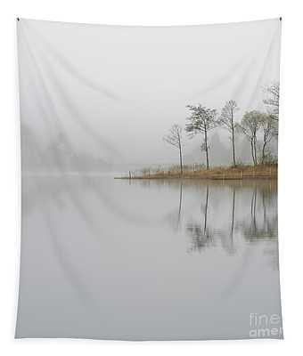Loch Ard Misty Sunrise Tapestry