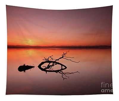 Loch Leven Sunset Tapestry