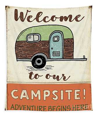 Lodge Sign-h Tapestry