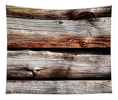 Log Cabin Wall Tapestry