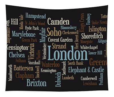 London Text Map Tapestry