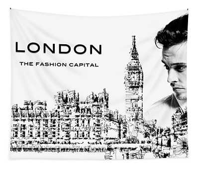 London The Fashion Capital Tapestry