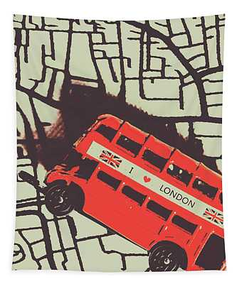 Londoners Travel Run Tapestry