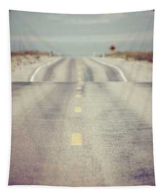 Lonely Desert Highway Road Tapestry