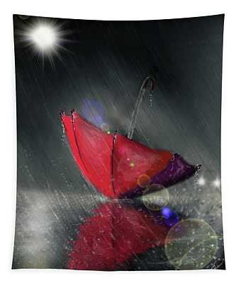 Lonely Umbrella Tapestry