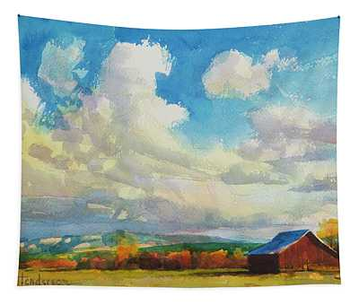 Lonesome Barn Tapestry
