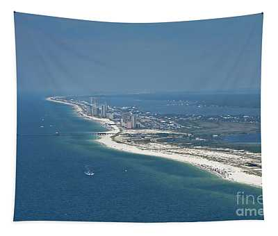 Long, Aerial, Beach View Tapestry