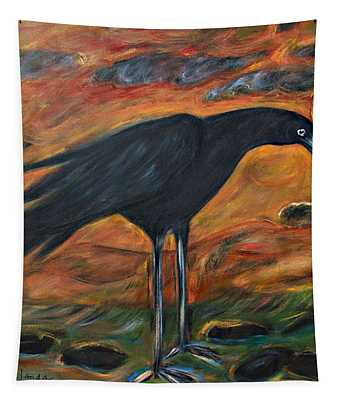 Long Legged Crow Tapestry