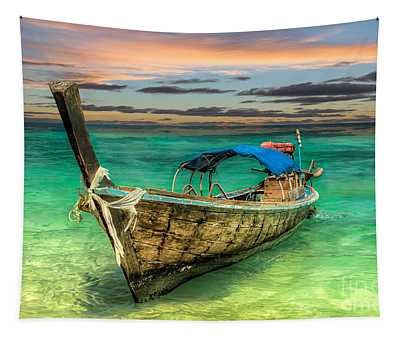 Longboat Sunset Tapestry