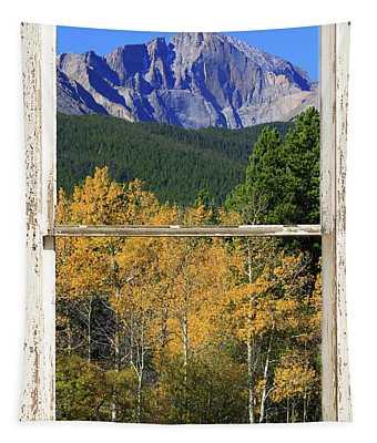 Longs Peak Window View Tapestry