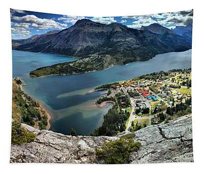 Looking Down On Waterton Lakes Tapestry