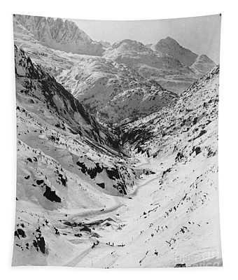 Looking Down Through Cutoff Canyon From Half Mile Below White Pass Summit, During The Klondike Gold  Tapestry
