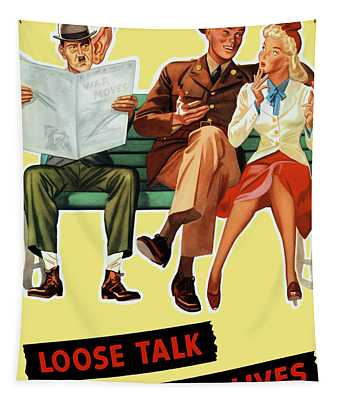 Loose Talk Can Cost Lives - World War Two Tapestry
